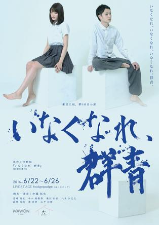 劇団た組。第9回目公演『いなくなれ、群青』ビジュアル1(ちらし表)