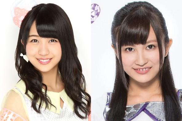 舞台化される、後宮コメディ「悪役令嬢後宮物語」に、AKB48・篠崎彩奈(左)とGEM・金澤有希らが出演 (c)AKS