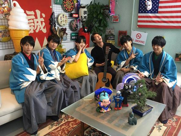 MAG!C☆PRINCE(マジックプリンス)のコント番組「幕末☆PRINCE」の10月3日放送回にD-BOYSの三上真史が登場 (C)中京テレビ