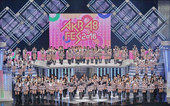 10月22日(土)にNHKでAKB48グループ110人相出演で放送される「AKB48 FES 2016」 (c)NHK