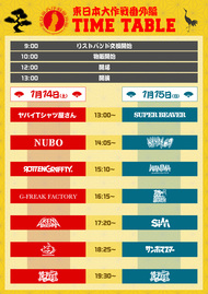10-FEET主催イベント『東日本大作戦番外編』のタイムテーブルを公開