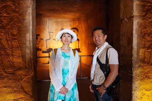 『世界ふしぎ発見!』アブ・シンベル神殿を訪れたミステリーハンター・竹内海南江 (c)TBS
