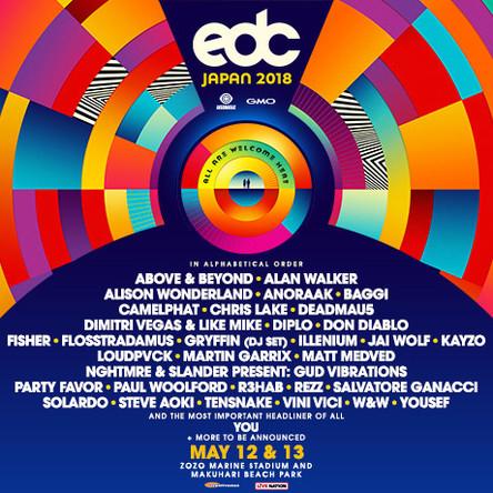 Martin Garrix、Steve Aoki、Deadmau5、Dimitri Vegas&Like Mike、Diploら「EDC Japan 2018」海外出演アーティストが発表