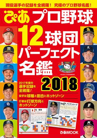 現役選手の記録を全網羅!写真も大きい究極のプロ野球名鑑 『プロ野球12球団パーフェクト名鑑2018 』 発売