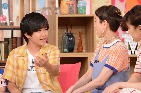 「メレンゲの気持ち」鈴木福くん、夢ちゃん、楽くん、誉ちゃん4兄弟が登場!(1) (c)NTV