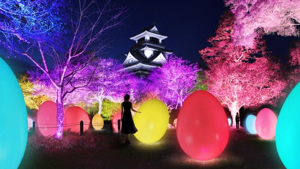 11月22日(木)から開催の「チームラボ 高知城 光の祭」に高知にゆかりのある歴史上の人物が登場する作品「お絵かき龍馬たち」の追加が決定。 (1)