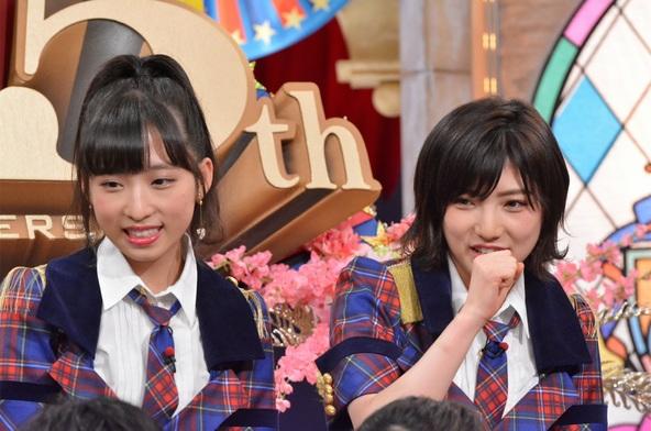「ダウンタウンDXDX放送25周年記念2時間スペシャル」小栗有以(AKB48)、岡田奈々(STU48・AKB48) (c)ytv