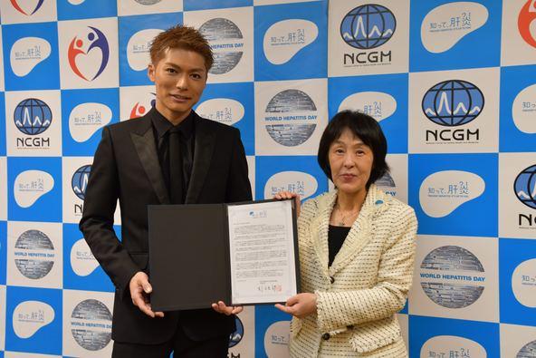 EXILE SHOKICHI「知って、肝炎プロジェクト」SPサポーターとして地元北海道を表敬訪問「若い世代の方も検査を受けて」