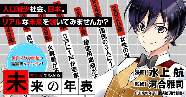累計75万部突破!話題作『未来の年表 人口減少日本でこれから起きること』を漫画化『マンガでわかる 未来の年表』