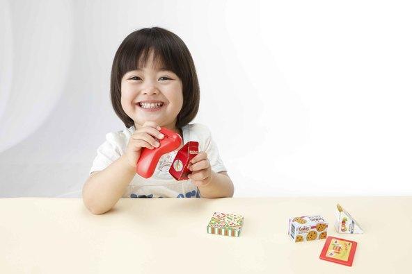 「レジぶくろはごりようですか?」「わりびきします」幼児雑誌「げんき」の付録「バーコードリーダーでおかいものあそび」がリアルすぎる!