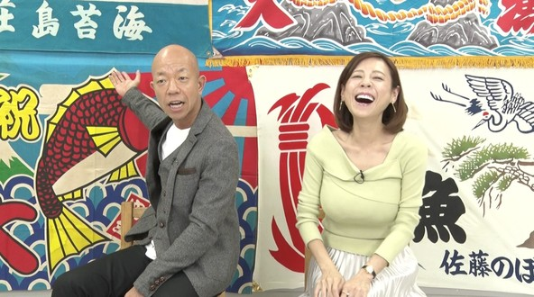 火曜エンタ『大漁JAPAN 〜地引網で海の底のウマい魚、全部獲って食う!〜』〈MC〉小峠英二(バイきんぐ)、高橋真麻 (c)テレビ東京