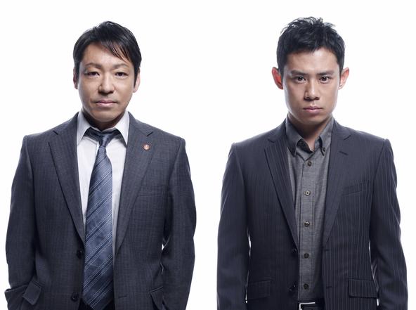 「MOZU」スピンオフドラマに出演する、香川照之と伊藤淳史  (C)TBS・WOWOW (C)逢坂剛/集英社