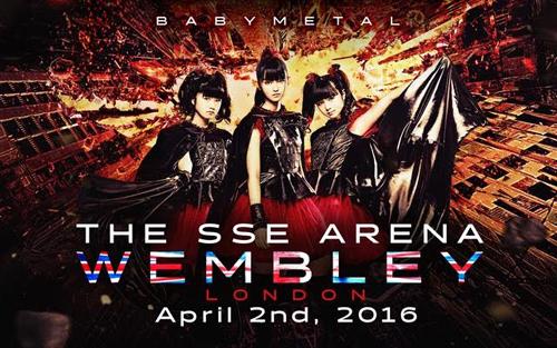 BABYMETAL、英・ウェンブリー・アリーナでのワンマン公演が決定!