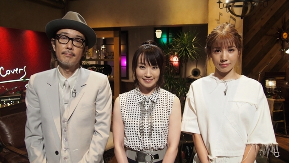 「The Covers」に出演する水樹奈々(写真中央)と、番組MCのリリー・フランキー、仲里依紗 (C)NHK