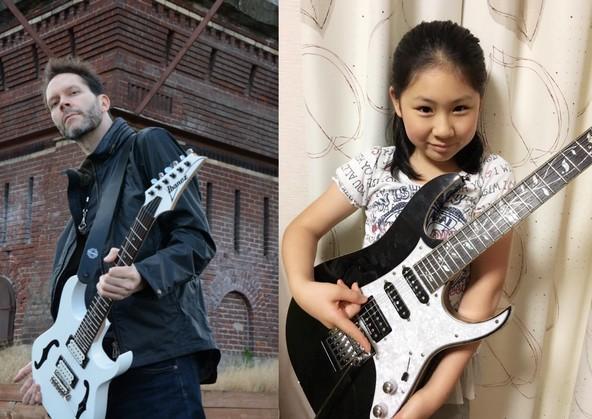 天才小学生ギタリスト・Li-sa-X(りーさーX)、師匠・MR.BIGの超絶技巧ギタリスト・ポール・ギルバートと初共演