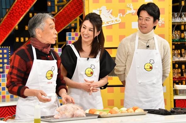 『新チューボーですよ! 最終回ですよ! スペシャル』左から堺正章、雨宮塔子、唐沢寿明 (c)TBS