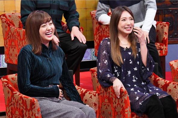 1月19日(木)『メッセンジャーの○○は大丈夫なのか?』に2人揃ってゲスト出演する菊地亜美と野呂佳代 (c)MBS