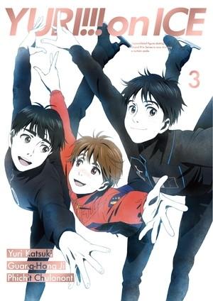男子フィギュアスケートアニメ「ユーリ!!! on ICE」第3巻が前作に続いてBD総合首位獲得