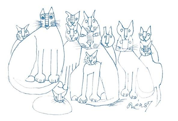 """""""無類の猫好き画家""""による作品を展覧 『猪熊弦一郎展 猫たち』がBunkamura ザ・ミュージアムにて開催"""