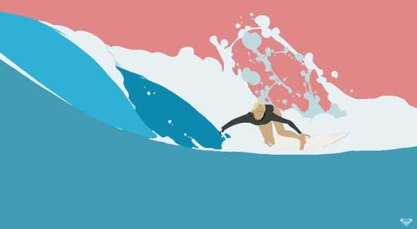 「私はマサの作品の大ファン」ステファニー・ギルモアと行く夢の世界…ROXY × 平岡政展コラボ映像公開