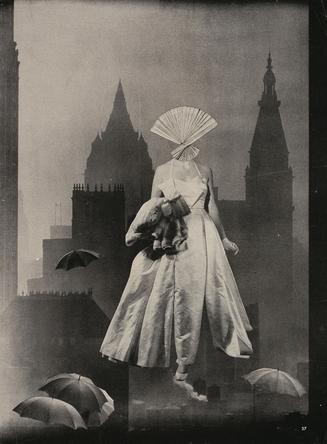 東京都庭園美術館で『岡上淑子 フォトコラージュ 沈黙の奇蹟』展 50年代ファッションとの結びつきにも注目