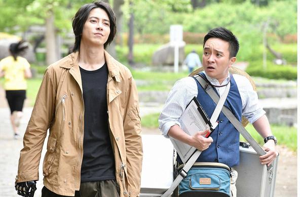 山下智久主演『インハンド』第7話 紐倉哲(山下智久)、高家春馬(濱田岳) (c)TBS