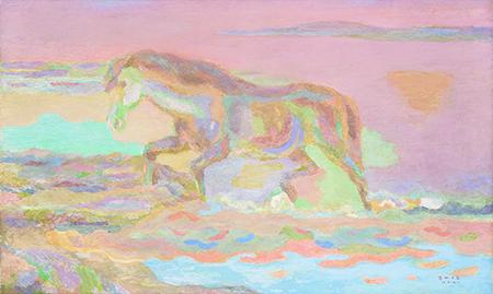 《水より上る馬》油彩・カンヴァス 1953年 株式会社鉃鋼ビルディング