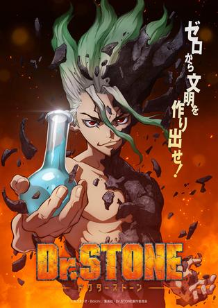 TVアニメ 『Dr.STONE』ティザービジュアル (C)米スタジオ・Boichi/集英社・Dr.STONE製作委員会