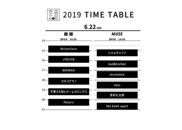 ■6月22日(土)昼の部 @磔磔&KYOTO MUSE