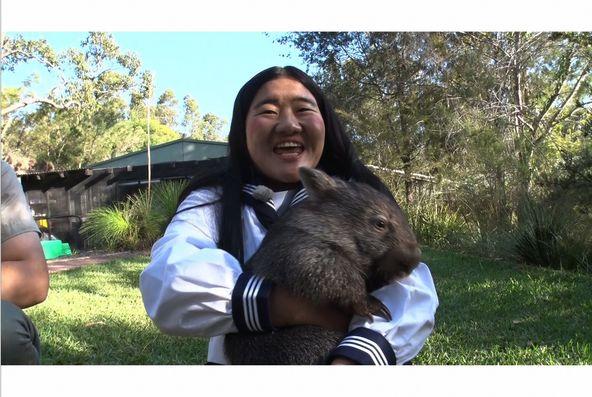 「世界の果てまでイッテQ!」珍獣ハンターよしこワールドツアー In オーストラリア  よしこ(ガンバレルーヤ)(c)NTV