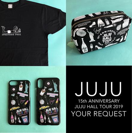 左上から時計回りに オリジナルTシャツ(FREE) 3,800円、ポーチ 3,000円、iPhoneケース(for iPhone 8/7/6s/6、for iPhone Xs/X ) 各1,800円 (C) 2019, Ash & Chess
