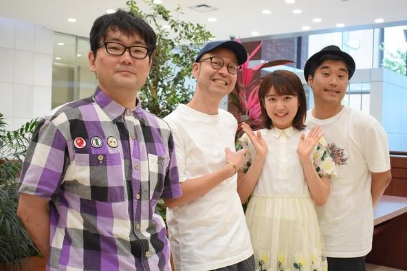 (左から) 伊達さん、飯野智司、惣田紗莉渚(SKE48)、加賀成一