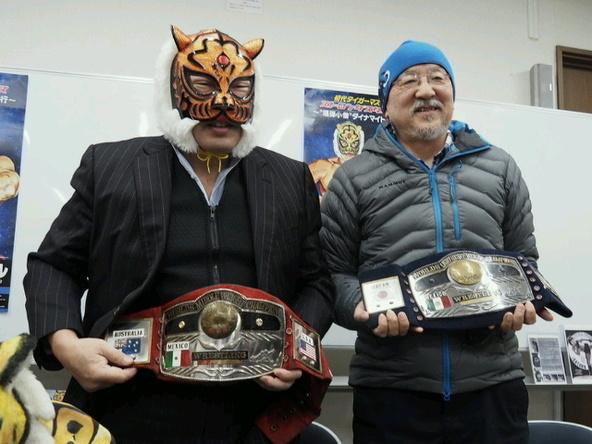 40年近い友情を育んできた、初代タイガーマスク(左)とドクトル・ルチャこと清水勉氏。どんな話が飛び出すか楽しみだ