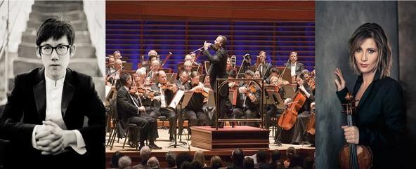 左から ハオチェン・チャン、フィラデルフィア管弦楽団、リサ・バティアシュヴィリ