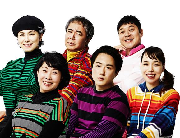 (左上段)高田聖子、入江雅人、竹井亮介(左下段)池谷のぶえ、大鶴佐助、川上友里