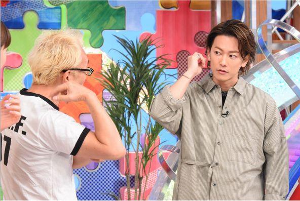 『1億人の大質問!?笑ってコラえて!』所ジョージ、佐藤健(2) (c)NTV