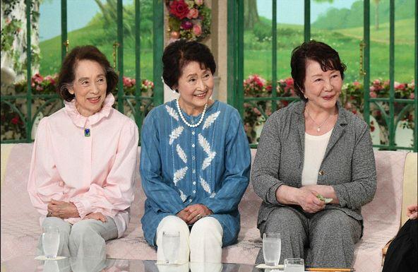 「徹子の部屋」渡辺美佐子、高田敏江、柳川慶子 (c)テレビ朝日