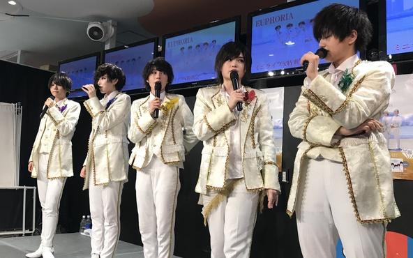 オリコンデイリーシングルチャート7位!男装ユニットEUPHORIA(ユーフォリア)メジャーデビューイベントで歓喜の涙