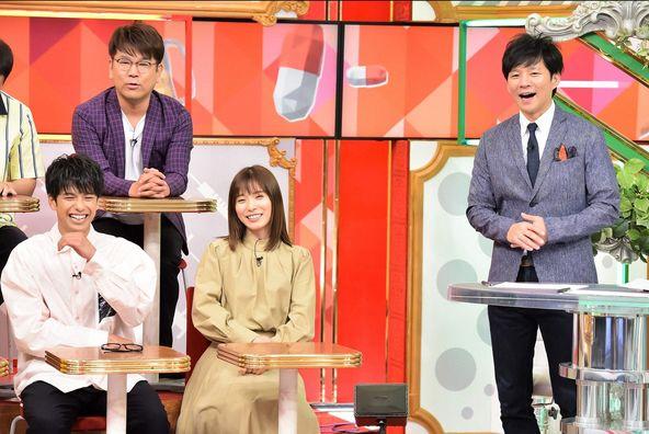 「名医のTHE太鼓判!」松岡茉優、森崎ウィン、渡部建(アンジャッシュ)、藤本敏史(FUJIWARA) (c)TBS