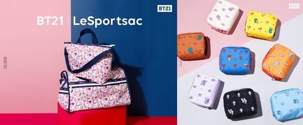 <BT21   LeSportsac>10月16日(水)より BT21とレスポートサックのコレクションを発売 (1)