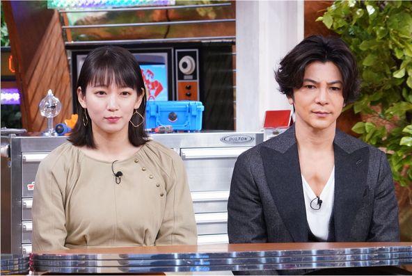 「世界まる見え!テレビ特捜部」吉岡里帆、武田真治 (c)NTV