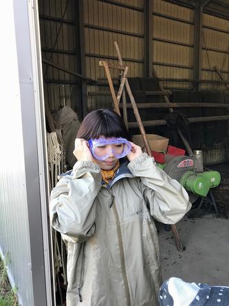 『あぐり王国北海道NEXT』ゴーグル装着で臨む作業とは? (c)HBC
