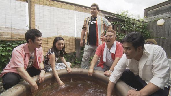 『サンドのお風呂いただきます』サンドウィッチマン(伊達みきお・富澤たけし)、北村一輝、マギー、大島優子 (c)NHK