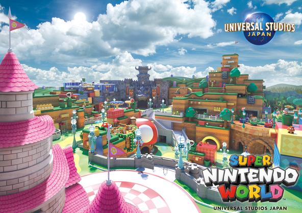 """""""世界初""""となる「任天堂」のテーマエリア『SUPER NINTENDO WORLD』の新エリアビジュアル&新情報を公開! (1)  (C)Nintendo"""