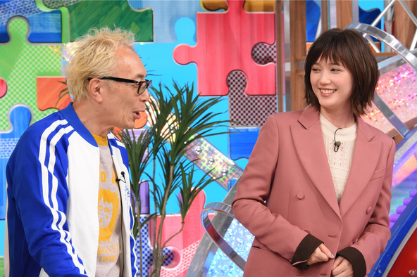 『笑ってコラえて!』所ジョージ、本田翼 (c)NTV