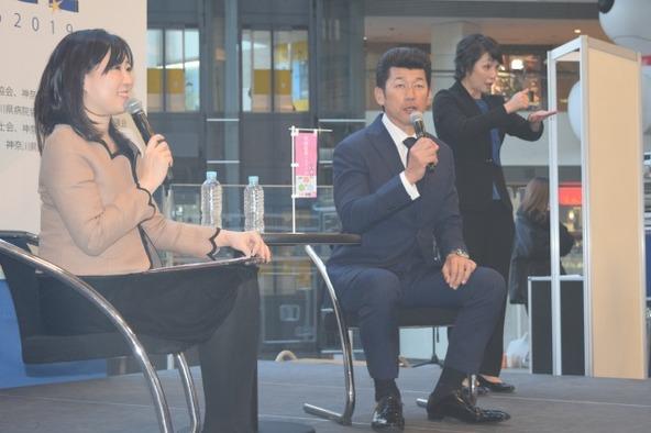 三浦大輔が登壇した『健康チャレンジフェアかながわ2019のトークイベント』の模様(1)