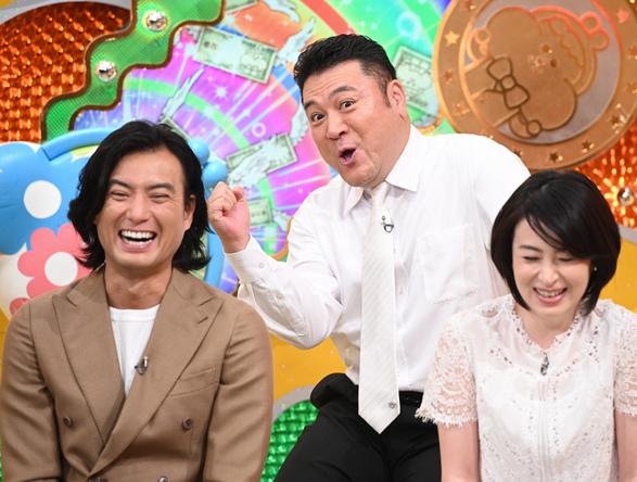 『有吉のお金発見 突撃!カネオくん』檀れい、徳重聡、山崎弘也 (c)NHK