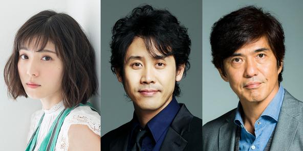 左から、松岡茉優、大泉洋、佐藤浩市 (C)2020「騙し絵の牙」製作委員会