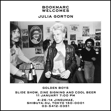 """NYパンク/NO WAVEシーンを捉えた写真家ジュリア・ゴートンの最新ZINE """"Golden Boys""""が上陸。その発売を記念して『BOOKMARC』にてサイン会を開催! (1)"""