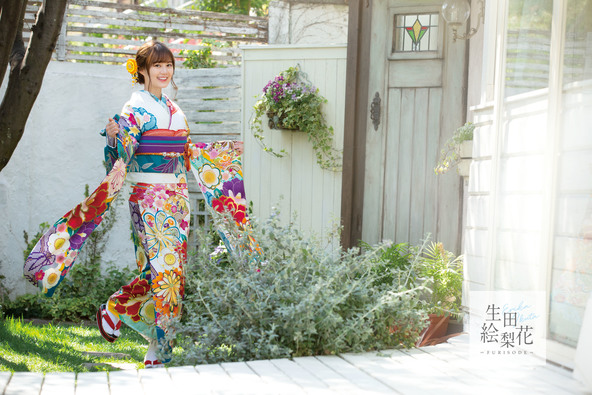 可愛らしさ満開、生田絵梨花が着こなす振袖!